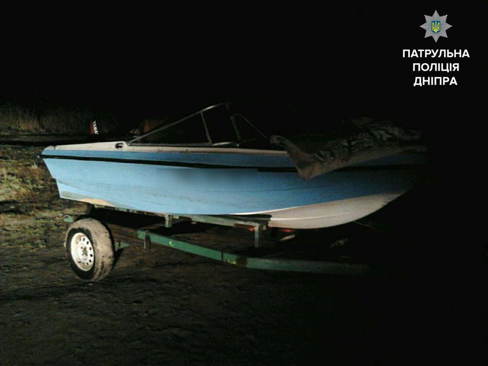 обнаружение лодки по следу