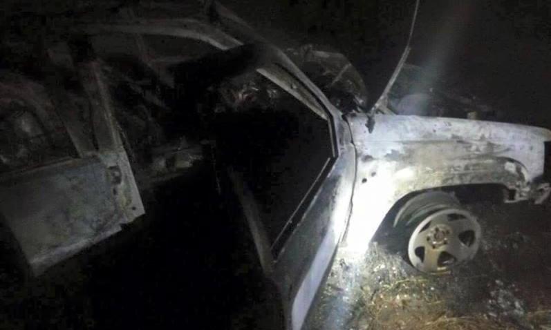 В Днепре автомобиль волонтера нашли сгоревшим дотла