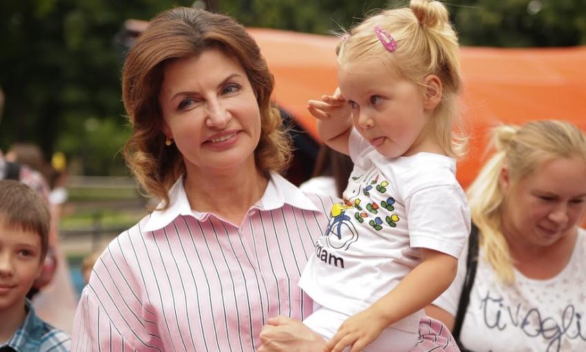 Марина Порошенко открыла инклюзивный парк в Днепре